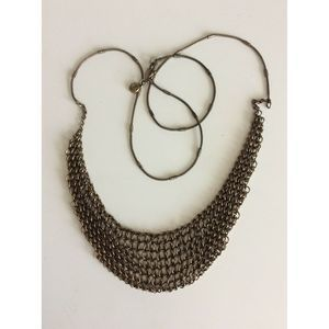 J.Crew Brasstone Chain Link Long Necklace 28 Inch